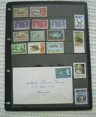 British Soloman Islands Cover +Mint And Used Stamps