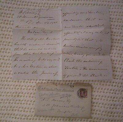 Great Britain Victorian Cover And Letter Dated December 1901( See Details)