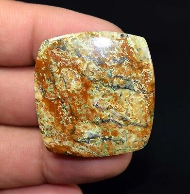 Lovely 54.35 Cts. 100% Natural Serpentine Opalite Cushion Cab For Silver Pendant