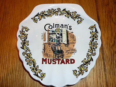 VINTAGE  Colmans Mustard condiment sweet tray from Lord Nelson Pottery