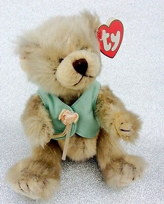 Ty The Attic Treasures Collection 2000 Retired Olivia Soft Fur Teddy Bear