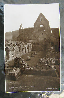 Postcard. Tintern Abbey, Wales. Unused. Sepia. e3
