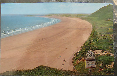 Postcard. Rhossili Bay, Glamorgan, Wales. Unused. Colour. e3