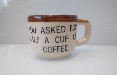 Vintage Novelty Florida Mug'You Asked For Half A Cup of Coffee' Collector's