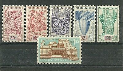 Czechoslovakia 1958 Brussels International Exhibition set Hinged Mint