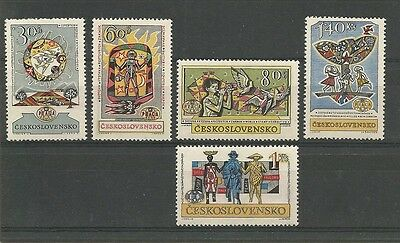 Czechoslovakia 1962 Praga International Stamp Exhibition set Hinged Mint