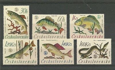 Czechoslovakia 1966 World Angling Championships set Hinged Mint