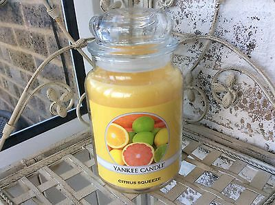 Yankee Candle 'Citrus Squeeze ' USA Exclusive Large Jar . Deerfield Label