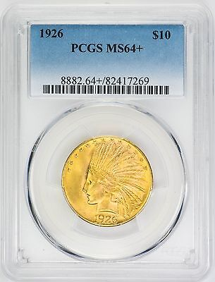 1926 $10 Gold Indian Head, Eagle - PCGS MS64+ - Rare Coin