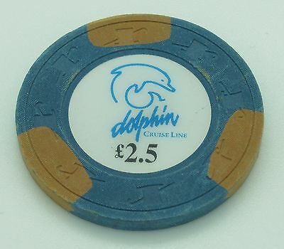 Dolphin Cruise Line £2.50 Casino Chip H&C Paulson Mold FREE SHIPPING