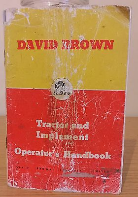 David Brown Tractor And Implement Operators Handbook / Manual
