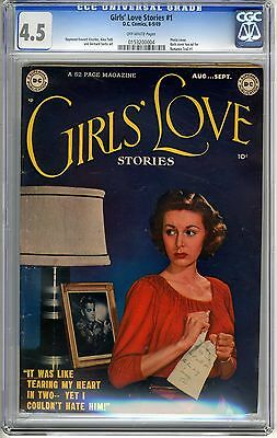 Girls' Love Stories  #1  1949 CGC  4.5  VG+   off - white  pages