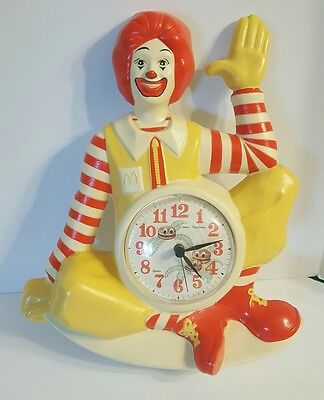 VINTAGE 1981 RONALD McDONALD WALL SIGN CLOCK Deko New Haven Burwood