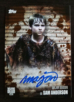 2017 Topps Walking Dead Season 6 Major Dodson Sam Autograph Auto Mud 11/50 41/50