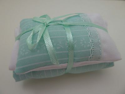 Dolls House Emporium Miniature 1:12th Bedroom Turquoise Single Bedding (7287)
