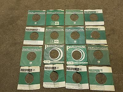 "16 original Parlophone company sleeves 7"" singles Lot"
