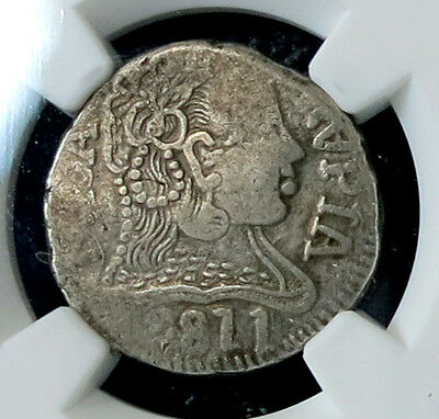 *** Ngc *** Goa 1 Rupia 1811 Joao ***vf-35 *** Cv Vf-20 $550! Error! Inverted A!