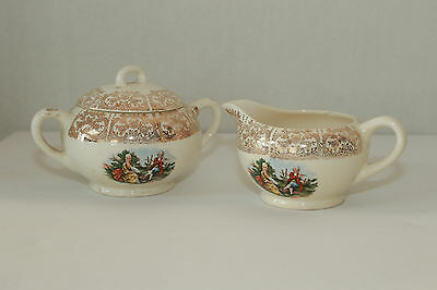 W.S. George Derwood 22K Pattern Creamer & Sugar