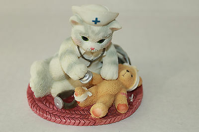 Calico Kittens Your Touch Heals Body And Soul Figurine