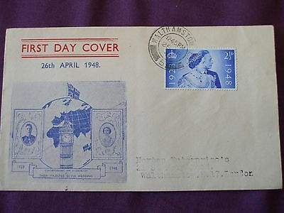 """GB - 1948 """" SILVER WEDDING 21/2d -  FIRST DAY COVER, ADDRESSED """" SG.493"""