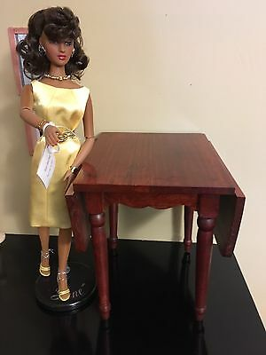 """Diorama Piece/ High Wood Table Only Gene VIOLET MADRA TONNER  TRENT 16"""""""