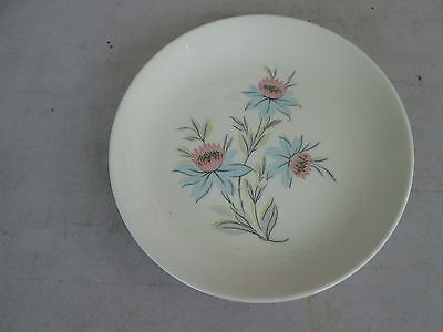 Steubenville Fairlane Salad Plate Pink/Blue Flowers, Gray Leaves