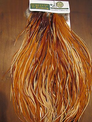 Fly Tying Whiting Hebert/Miner Gold Rooster Saddle Light Brown #A