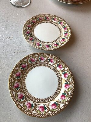 A Pair Of 19th Century English China Saucer Dishes Made For T. Goode & Co