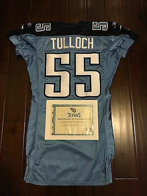 Stepehn Tulloch Tennessee Titans Detroit Lions Game Worn Used Jersey Football NF