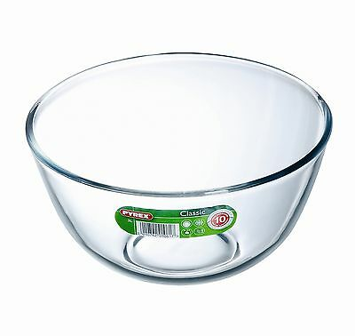 Pyrex Glass Bowl 3 L Mixing Dish Stain Proof Oven Microwave Fridge Freezer