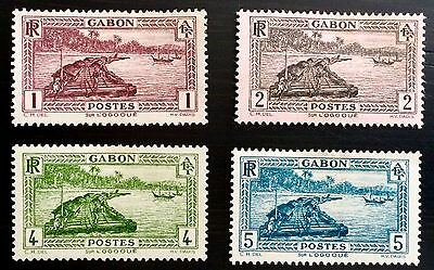 Antique Rare Collectible Set Of Gabon Africa Postage Stamps