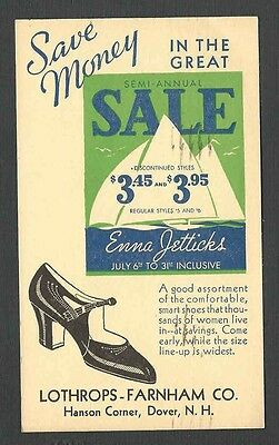 1936 P C Dover Nh Enna Jetticks Shoes At Lothrops July Sale $3.45-$3.95
