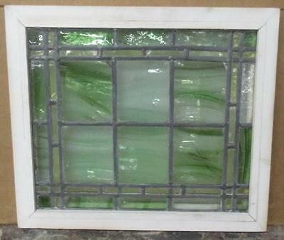 """OLD ENGLISH LEADED STAINED GLASS WINDOW Streaky, Pretty Abstract 20"""" x 17.5"""""""