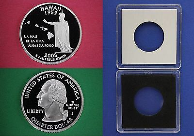 2008 S Proof Hawaii State Quarter With 2x2 Case Clad Dp Cameo Flat Rate Shipping