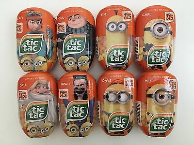 New Tic Tac Despicable Me 3 2017 Minions Limited Edition Complete Set Of 8