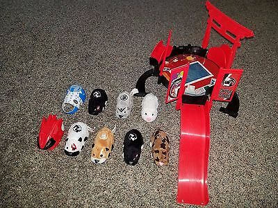 Lot Of 6 Zhu Zhu Pet,s (Hampsters) A Run Course And 2 Mask Covers