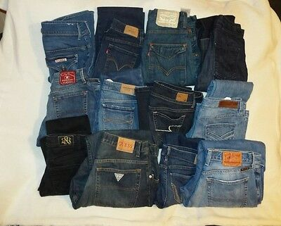 Womens & Mens Designer And High End Wholesale Jeans Lot 20 Pair