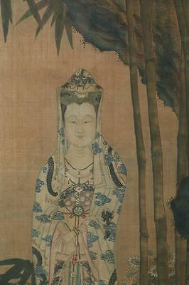 A Huge and Important Framed Chinese Qing Dynasty Painting on Silk, Signed.