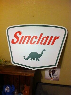 """SINCLAIR OIL GAS SIGN VINTAGE PORCELAIN LOOK OLD STYLE 30x22"""" VERY NICE SIGN"""