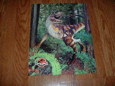 Lost World Jurassic Park-  3D Halogram Lobby Card 1997  Very Rare
