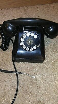 Antique Vtg Western Electric Bell System Rotary Desk Telephone