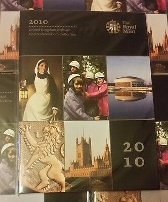 2010 Royal Mint Annual Coin Set Brilliantly Uncirculated Sealed