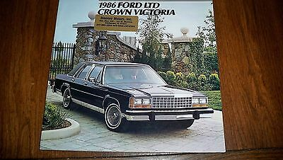 1986  Ford Ltd Crown Victoria  Brochure