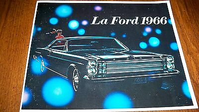 1966 Ford Galaxie 500 7-Litre  Custom Ltd Country Squire  French Brochure