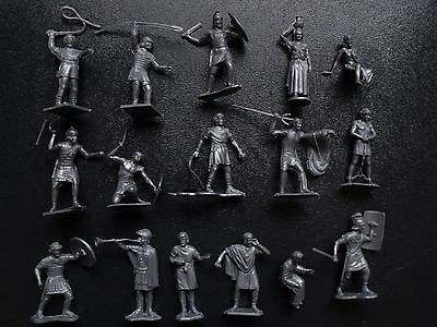 """Romans People, Warriors, Emperor And More Marx Toys Recast 16 Characters 2"""" 1960"""