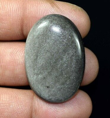 Healing King 40.15 Cts. 100% Natural Rare Silver Obsidian Oval Loose Gemstones