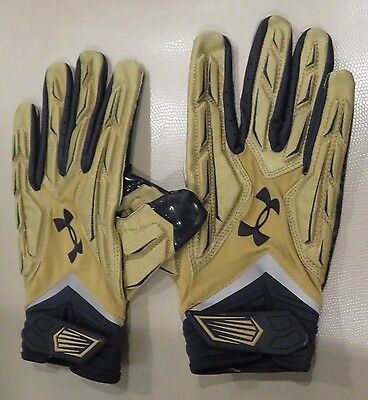 Notre Dame Football Team Issued Under Armour Gloves - Size XXL