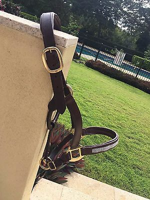 Sparkly Leather Halter FULL size