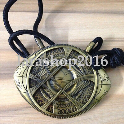 Doctor Strange The Eye of Agamotto Amulet Copper Cosplay Necklace With Box