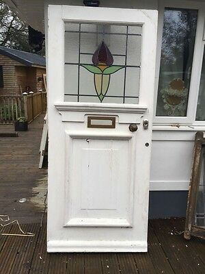 Large Victorian Edwardian Front Door Old Period Reclaimed Wooden Antique Big